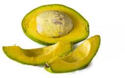 Open Jamaican or Caribbean avocado, real life fruit or ingredient Stock Images