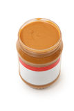 Open Jar of Creamy Peanut Butter Stock Image