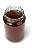 Open jar of honey Royalty Free Stock Images