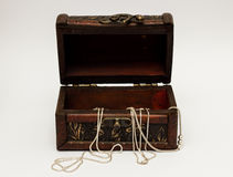 Open jewellery box Stock Image