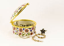 Open jewelry box Royalty Free Stock Images