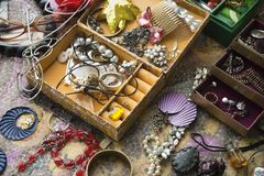 Open jewelry box. Royalty Free Stock Photography