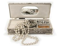 Open jewlery box stock photos