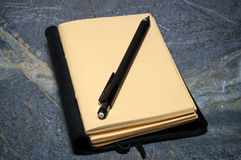 Open journal with mechanical pencil Royalty Free Stock Photos