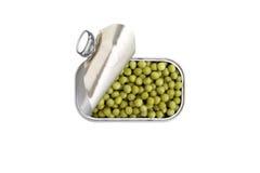 Open kan av isolerade gröna pajer royaltyfri foto