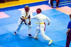 Open karate tournament kiokusinkaj royalty free stock images