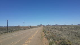 Open karoo roads Royalty Free Stock Photography