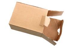 Open kartondoos. royalty-vrije stock foto