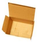 Open kartondoos Royalty-vrije Stock Afbeelding