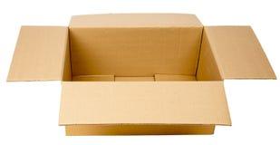 Open kartondoos stock afbeelding