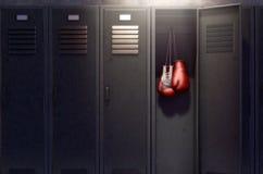 Open Kast en Hung Up Boxing Gloves stock illustratie