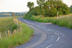Open kent country lane Stock Photography