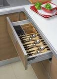 Open keukenladen Stock Foto