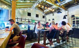 Open Kichen restaurant Royalty Free Stock Photography