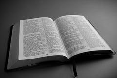 Open KIng James BIble. Open leather King James Bible religous symbol Stock Images