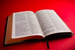 Open KIng James BIble. Open leather King James Bible religous symbol Stock Photo