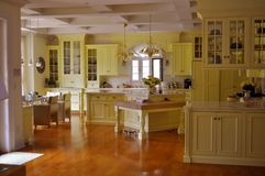 Open kitchen. This is a picture of an elegant open kitchen Royalty Free Stock Image