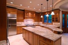 Open Kitchen. Luxury American Kitchen Series II Royalty Free Stock Photos