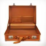Open koffer, vectorpictogram stock illustratie