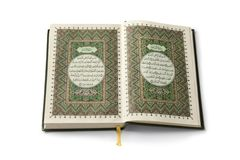 Open Koran book Royalty Free Stock Photo