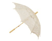 Open lace umbrella Stock Image