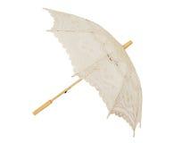 Open lace umbrella Stock Image