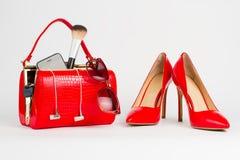 Open lady handbag. Royalty Free Stock Photography