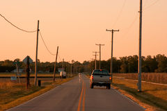 Open landweg Royalty-vrije Stock Foto