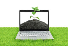 Open laptop Stock Images