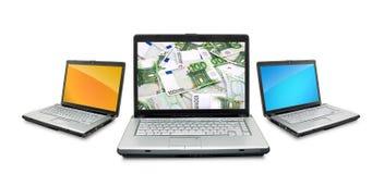 Open laptop Stock Image