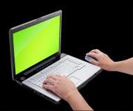 Open laptop Royalty Free Stock Image