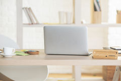 Open laptop back Royalty Free Stock Photography