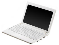 Open laptop computer Stock Photo
