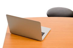 Open laptop on a desk Royalty Free Stock Photography