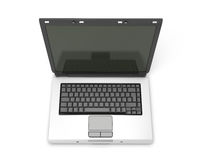 Open laptop without the letters on the keyboard Royalty Free Stock Photography