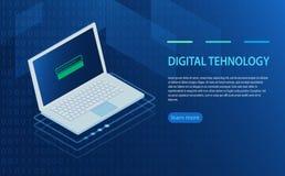 Open laptop met vergunningsvorm op het scherm, persoonlijke gegevensbescherming Stock Foto