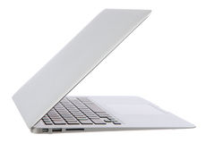 Open laptop notebook computer for business with keyboard Royalty Free Stock Images