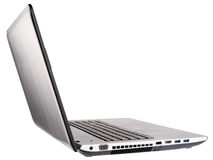 Open laptop rear isometric view Royalty Free Stock Photography
