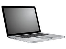 Open laptop showing keyboard and screen Royalty Free Stock Images