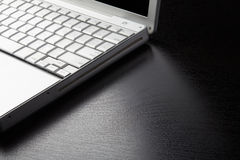 Laptop edge Royalty Free Stock Photography