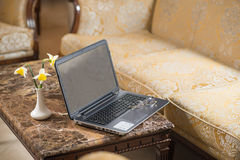 Open laptop on the table Royalty Free Stock Photography
