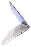 Open laptop, tilt view Royalty Free Stock Photography