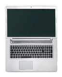 Open laptop  on white background Royalty Free Stock Image