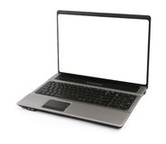 Open laptop with white screen Royalty Free Stock Image