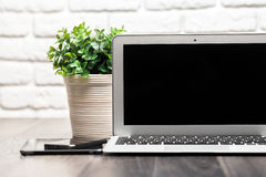 Open laptop Stock Photo