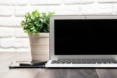 Open laptop Stock Photo