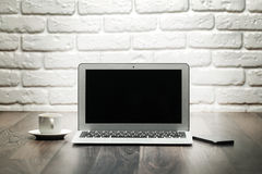 Open laptop Royalty Free Stock Image