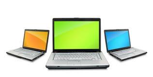 Open laptops Stock Image
