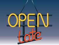 Open Late Sign Stock Photos