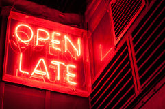 Open Late Sign Stock Photo